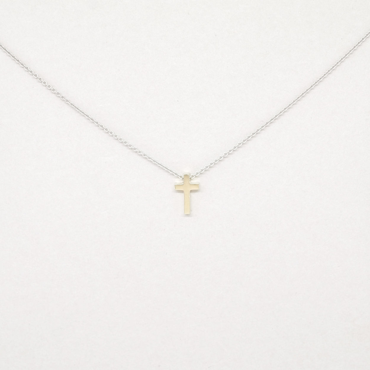 Mini Cross Necklace 14kt Gold