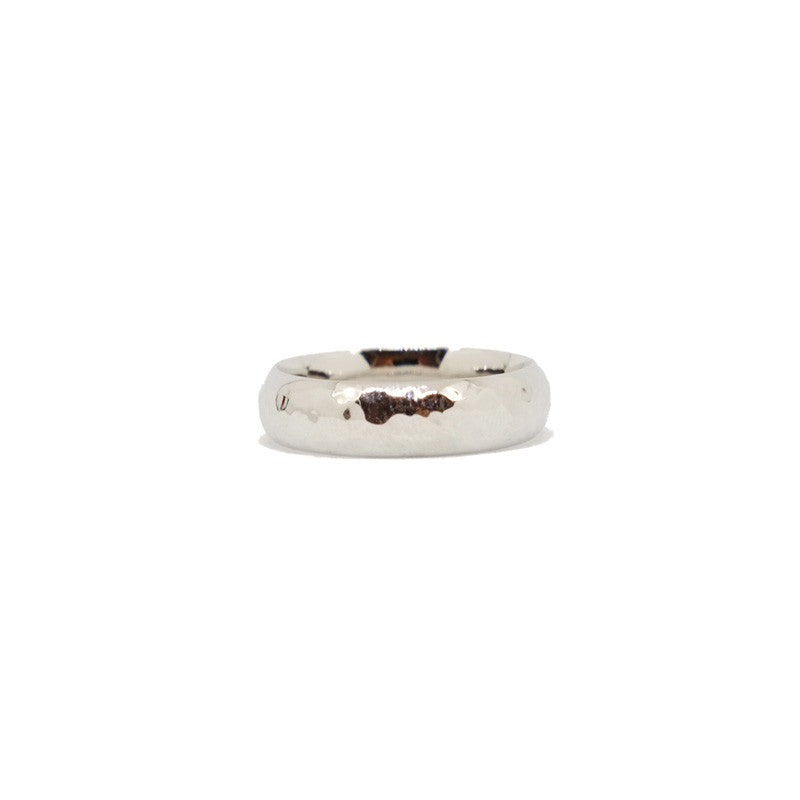 Hammered 5mm Band (14kt | 18kt Gold)
