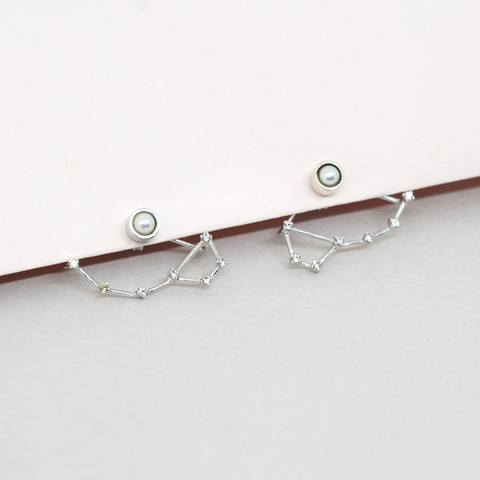 Constellation Little Dipper Earrings (Silver)