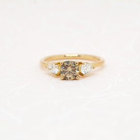 Heavenly Lights Ring, 0.6ct Champagne Diamond