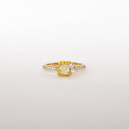 Flourish Ring, Light Yellow Diamond 0.41ct