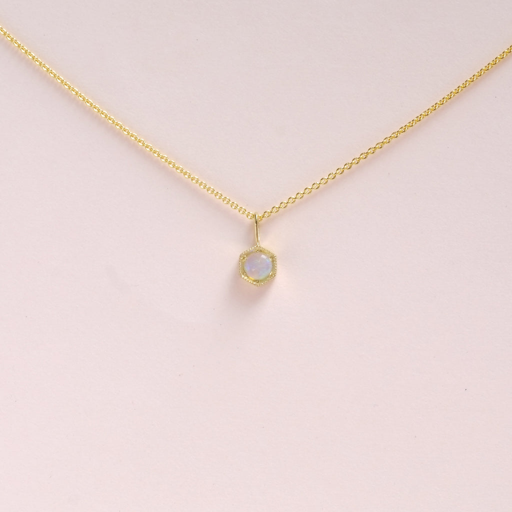 Opal (October) Birthstone Necklace