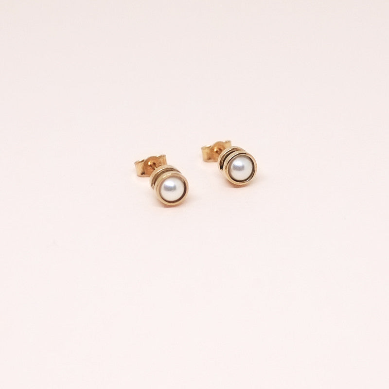 Pearl Earrings Rose Gold (14kt)