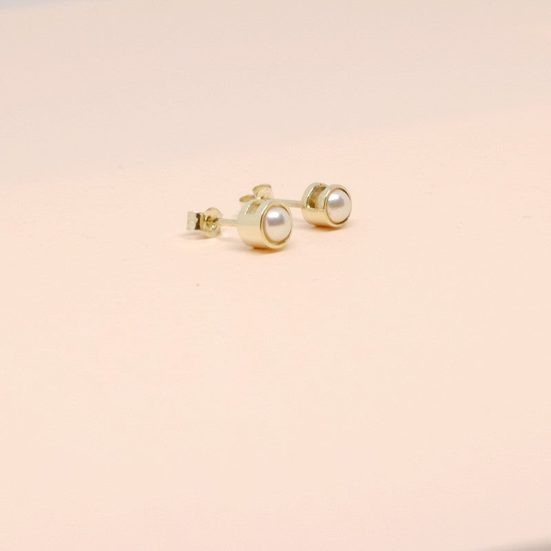 Pearl Earrings White Gold (14kt)