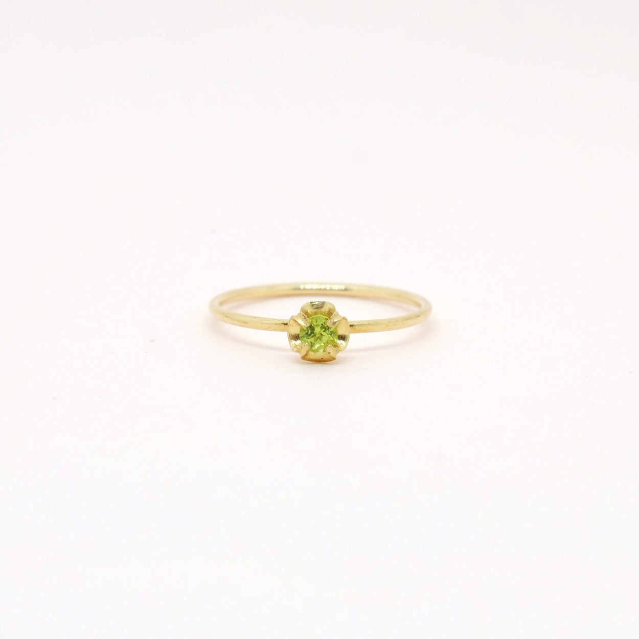 Peridot (August) Birthstone Ring