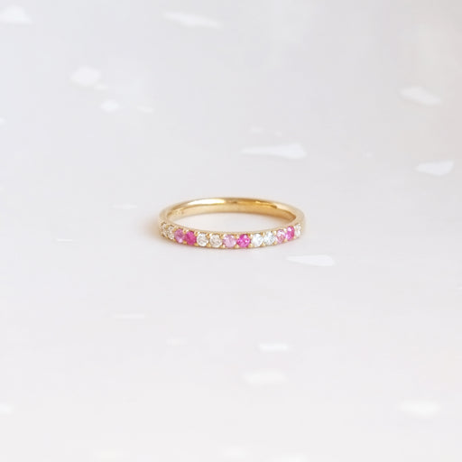 Let Love In Band (Pink Sapphires 14kt | 18kt Gold)