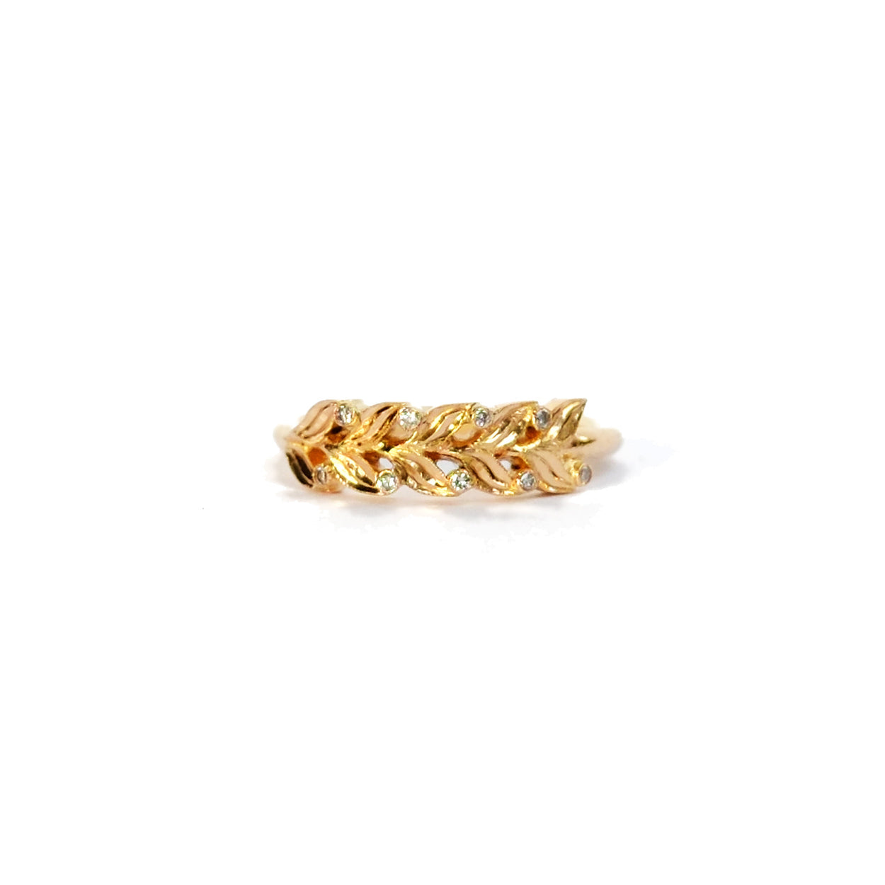 Providence Olive w/ Diamond Half Ring (14kt | 18kt Gold)