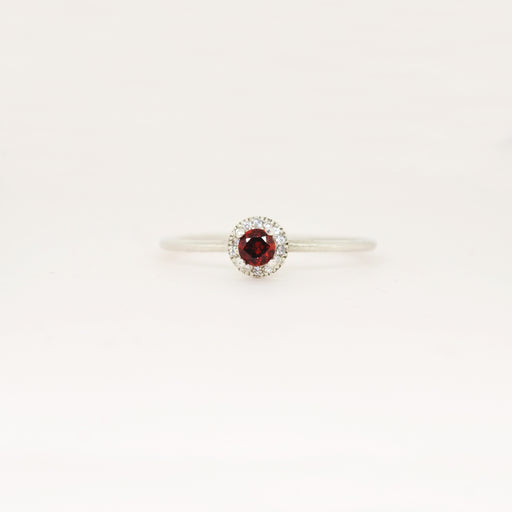 Garnet (January) Birthstone Ring
