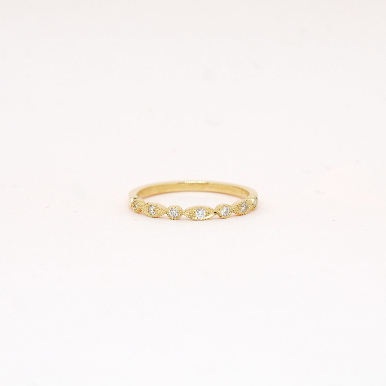 Vintage Style Diamond Half Band (9kt | 14kt | 18kt Gold)