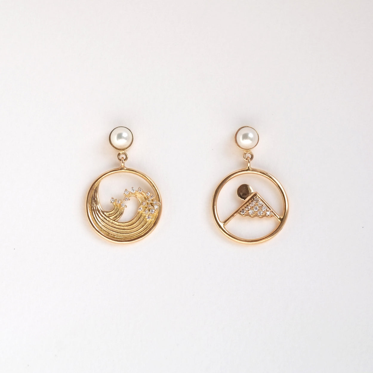 Summer + Winter Assymetrical Earrings