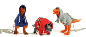 HOW TO WEAR - Dinosaur in a Hoodie Necklaces