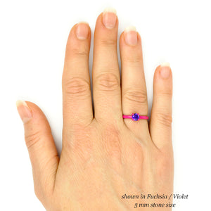 5 mm Round Ring with Thin Band - Customize