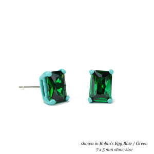 7 x 5 mm Octagon Earrings - Customize