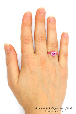 8 mm Heart Ring with Thin Band - Customize