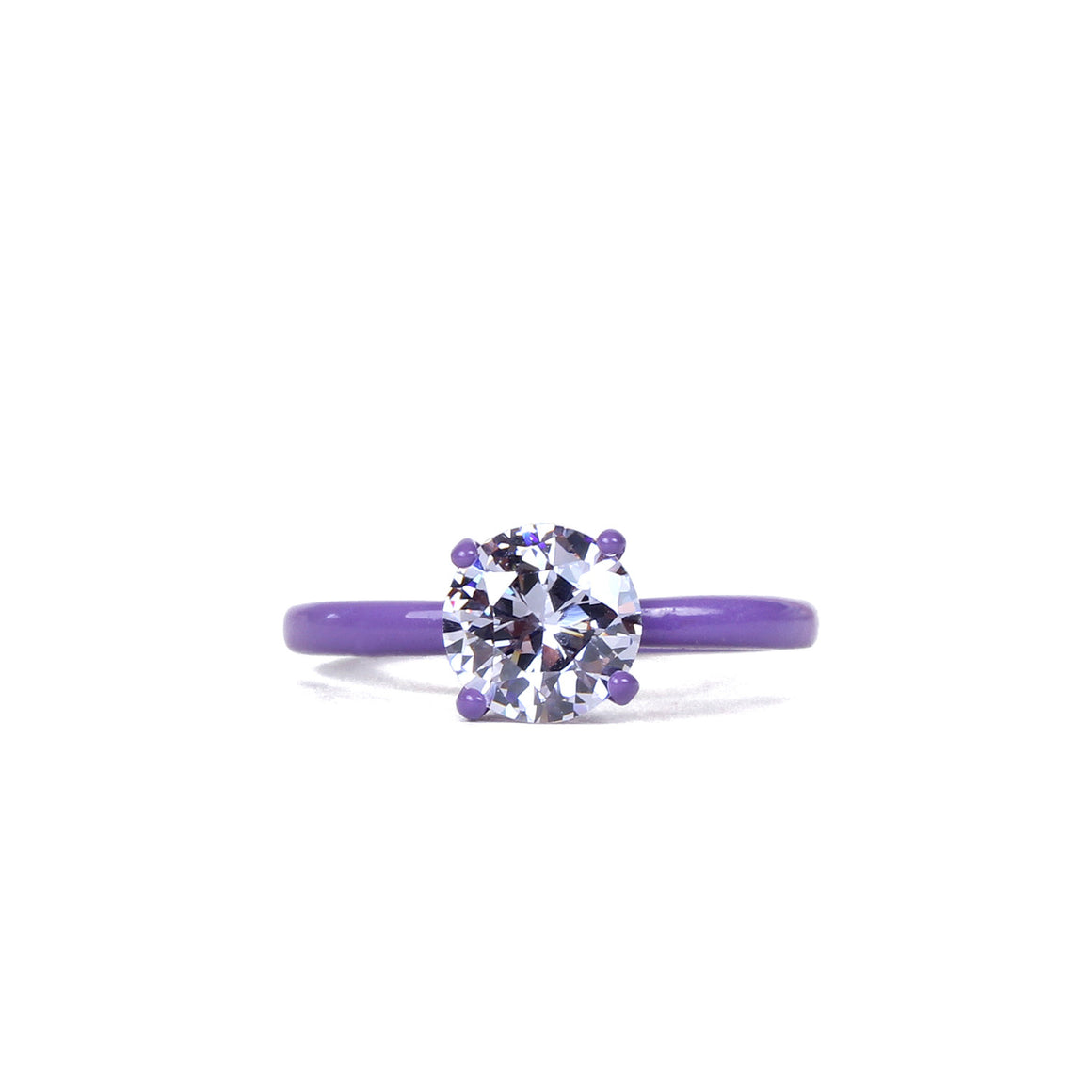 Lucky Charms Bling Ring - Lavender 7 mm Round - Powder Coated