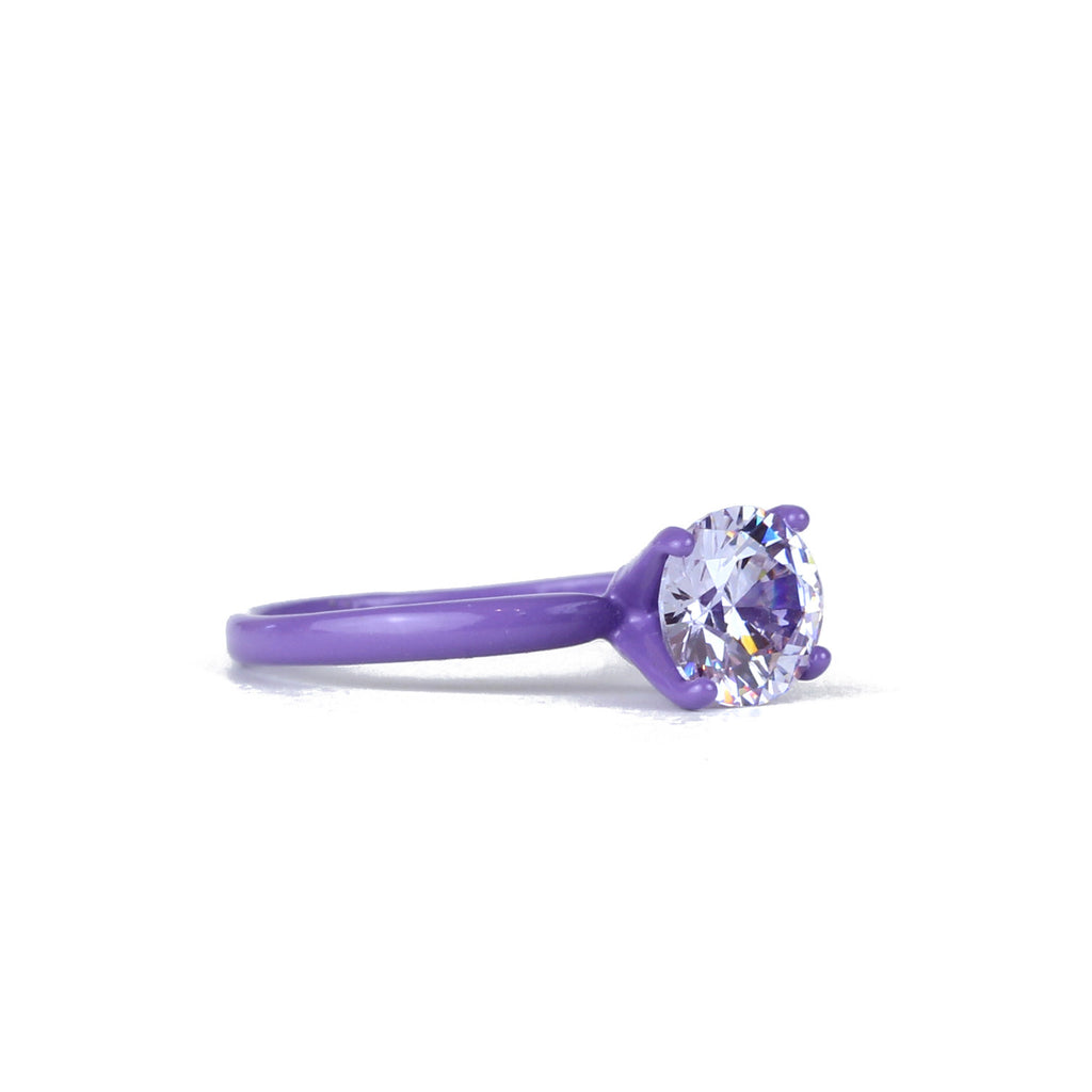 SALE - Lucky Charms Bling Ring - Lavender 7 mm Round - Powder Coated