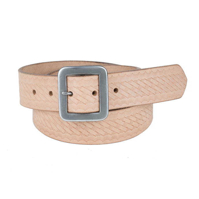 Basket Weave Belt - Natural