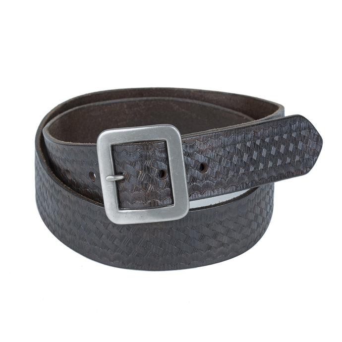 Basket Weave Belt - Black/Brown