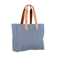 Wide Market Bag - Stripes