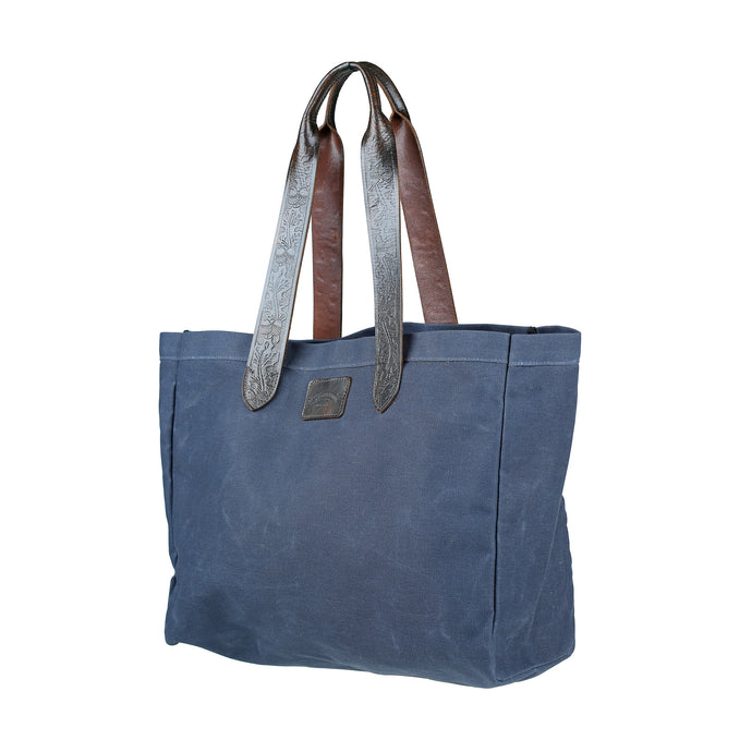 Wide Market Bag - Navy
