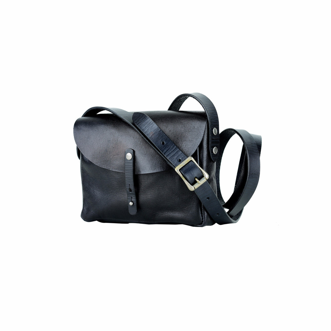 Leather Crossbody - Black