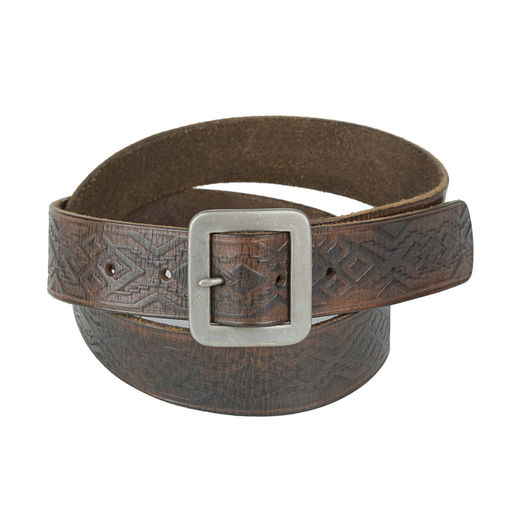 Embossed Belt - Vintage Brown