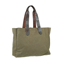 Wide Market Bag - Olive