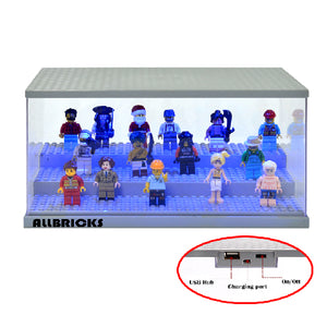 3-Tier Minifigure Acrylic LED Display Case - ALLBRICKS Expert in Acrylic Display and Bricks