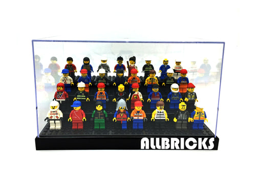 4-Tier Minifigure Acrylic Display Case * For Minifigs With Base Plate * - ALLBRICKS