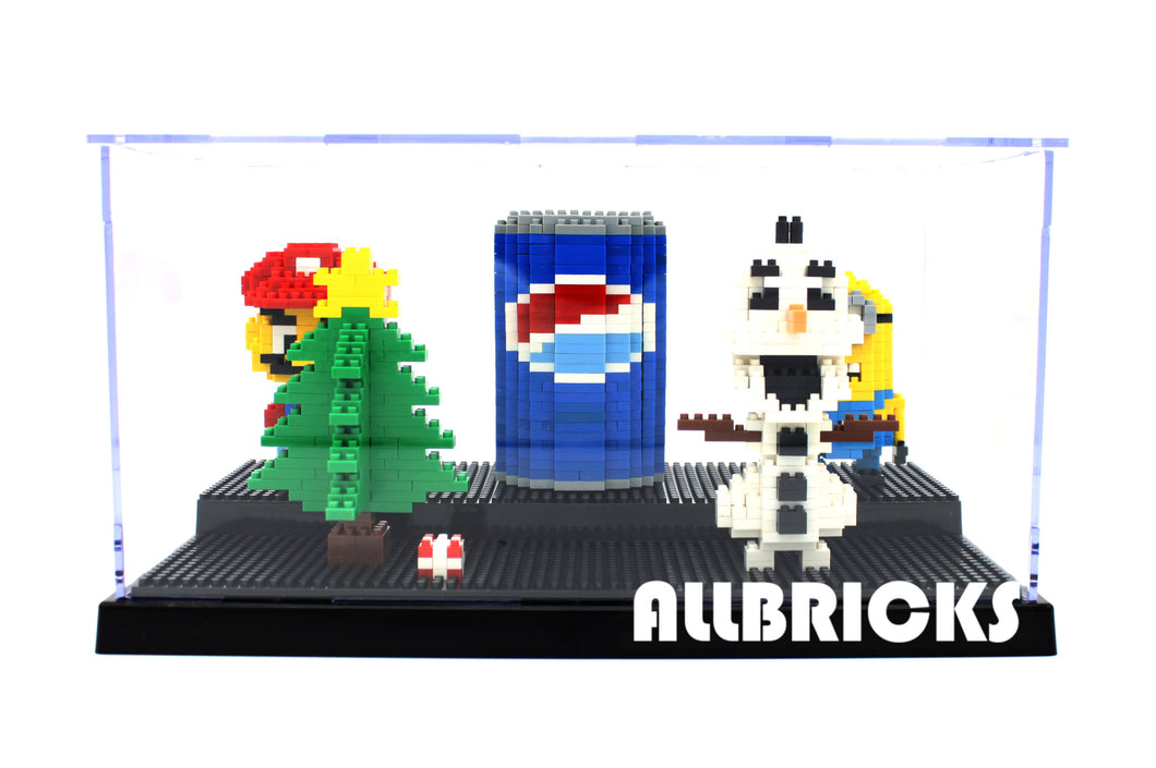 2-Tier Nano Brick Acrylic Display Case - ALLBRICKS Expert in Acrylic Display and Bricks