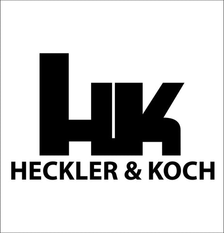 Heckler and Koch decal, sticker, firearm decal