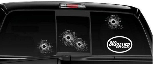 Sigsauer decal, sticker, firearm decal