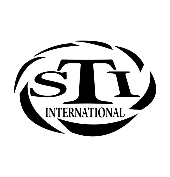 STI International decal, sticker, firearm decal