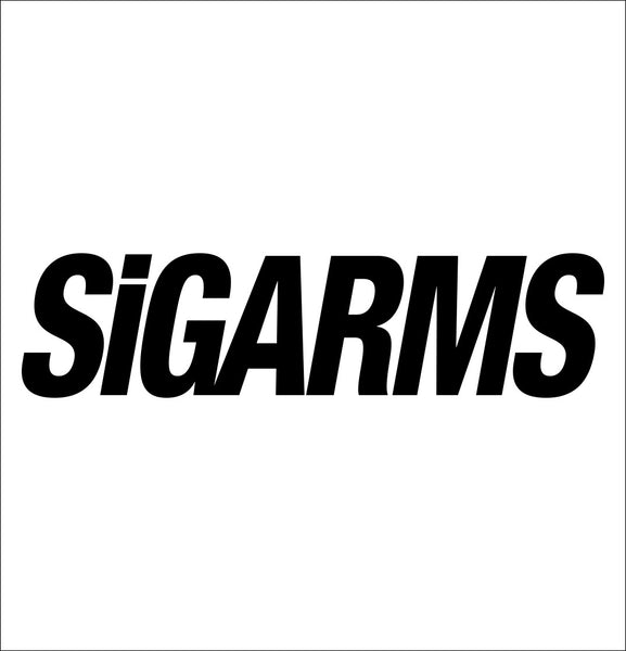 Sigarms decal, sticker, firearm decal