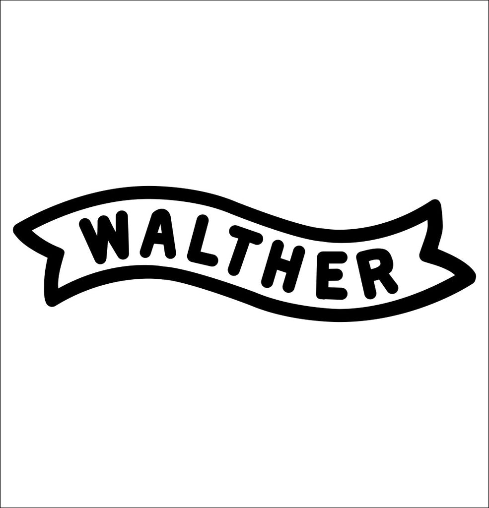 Walther decal, sticker, firearm decal