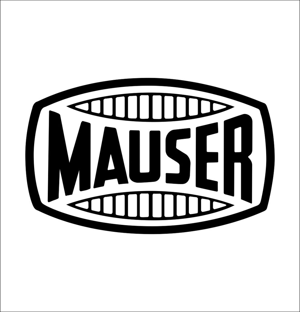 Mauser decal, sticker, firearm decal