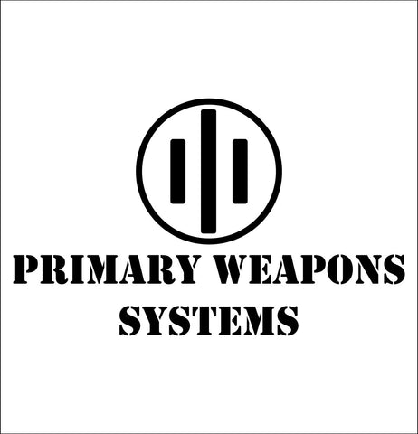 Primary Weapons Systems decal, sticker, firearm decal
