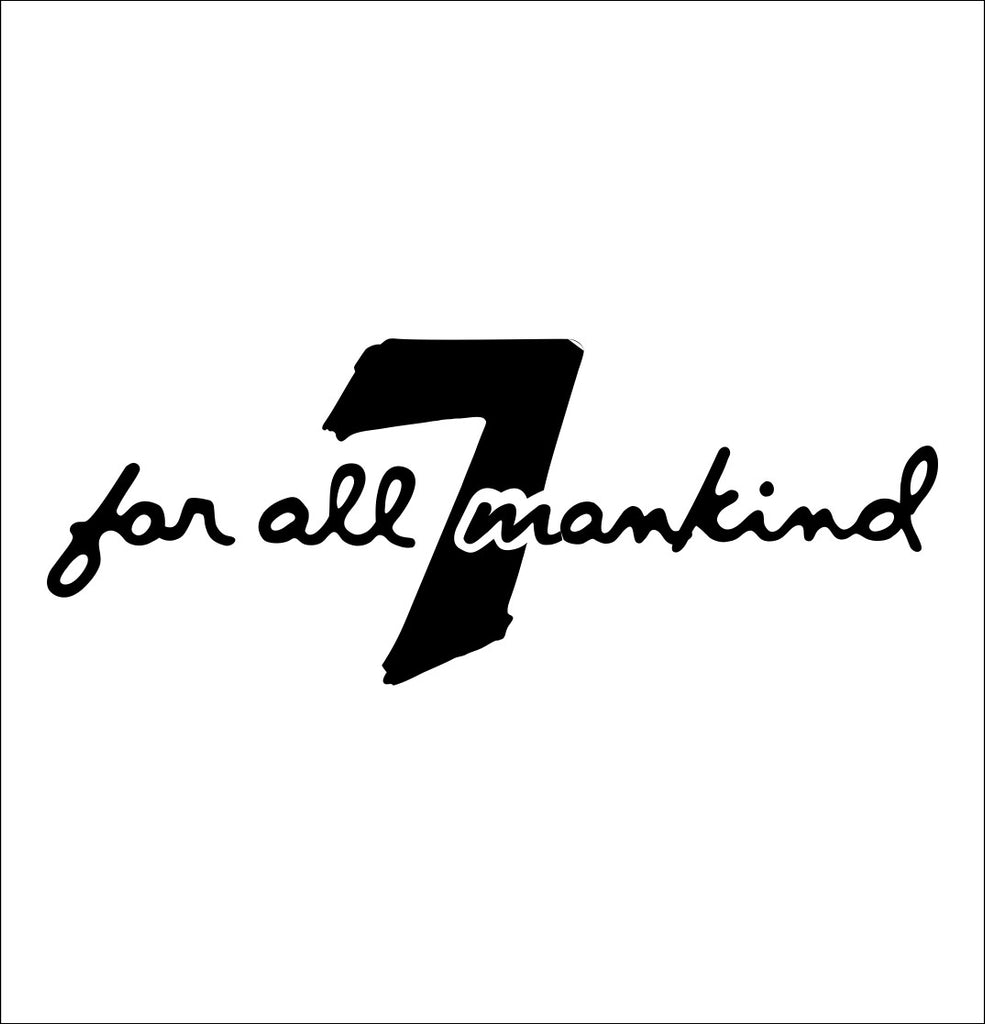 7 For All Mankind decal, fashion decal, car decal sticker
