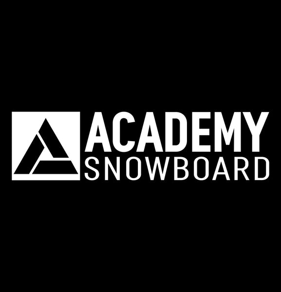 Academy Snowboard decal, ski snowboard decal, car decal sticker