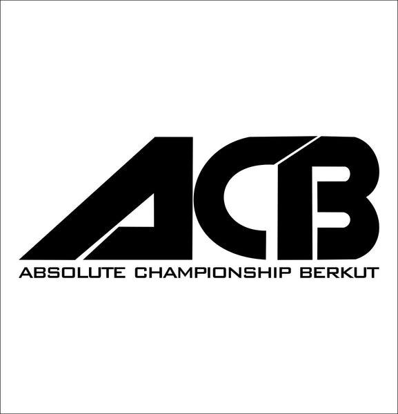 ACB decal, mma boxing decal, car decal sticker