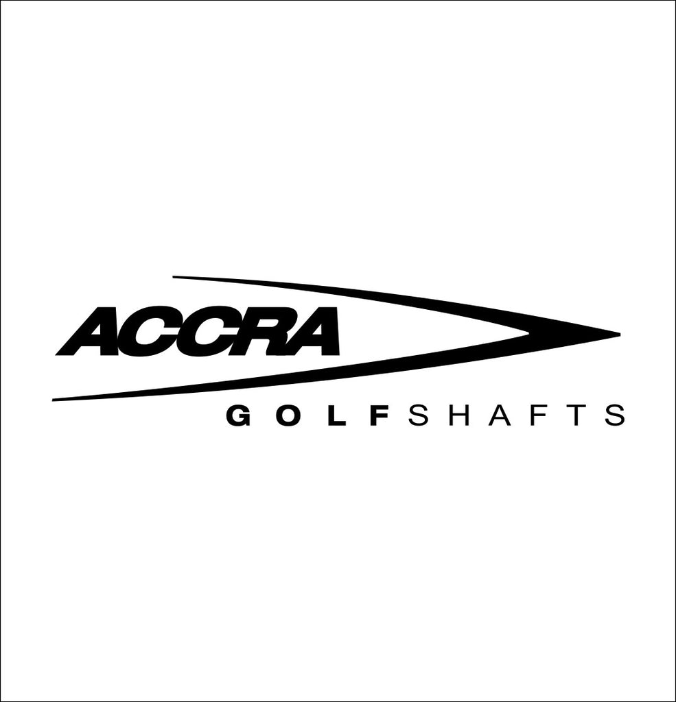 Accra Shafts decal, golf decal, car decal sticker