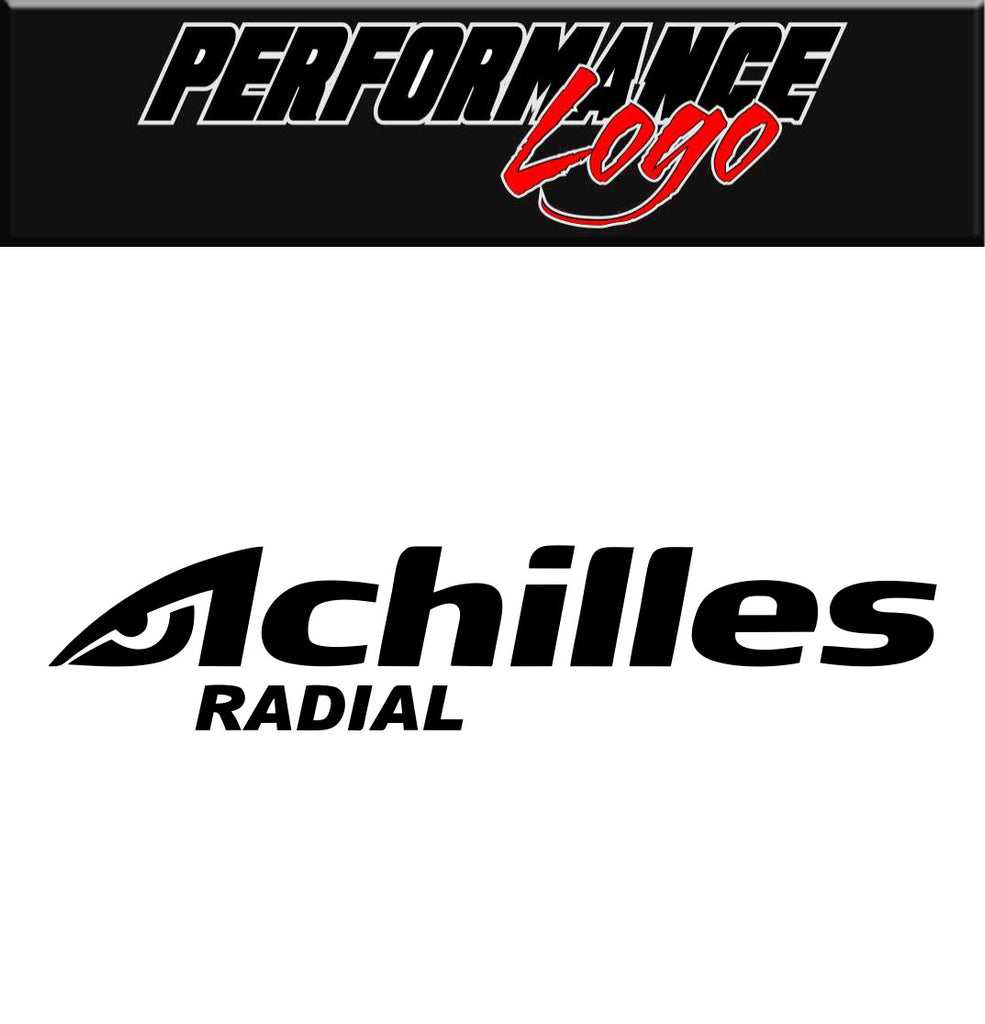 Achilles decal, performance decal, sticker
