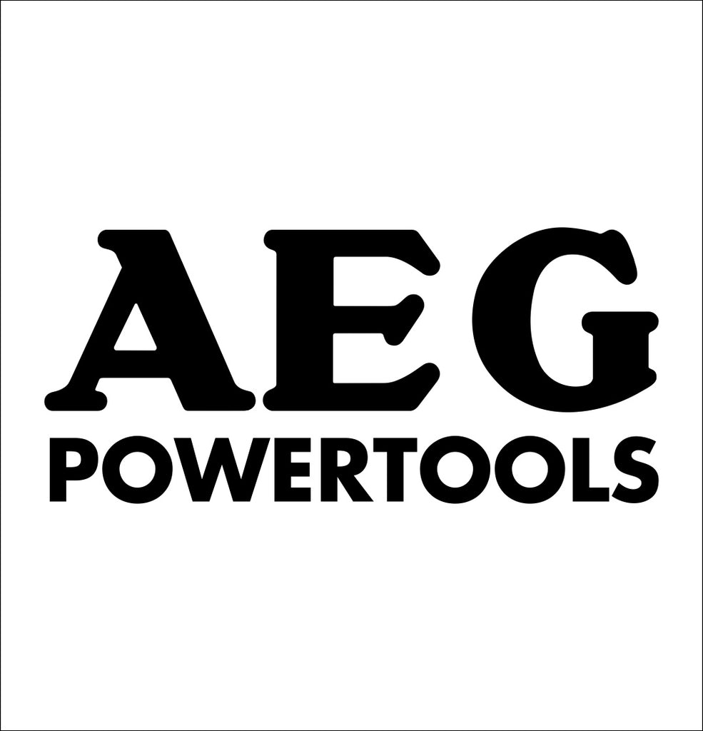 AEG power tools decal, car decal sticker