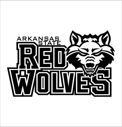 Arkansas State Red Wolves decal, car decal sticker, college football