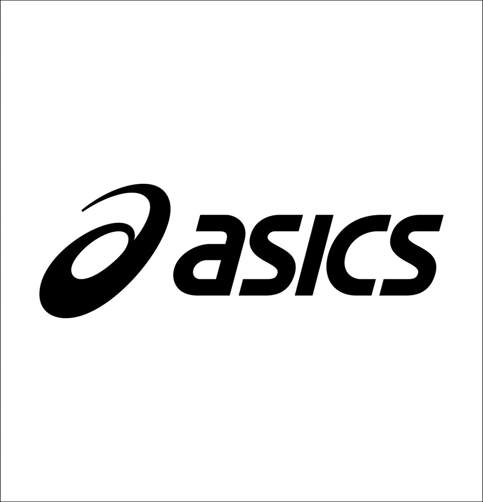 asics decal, car decal sticker