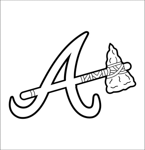 Atlanta Braves decal, car decal sticker