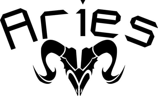aries 2 zodiac decal - North 49 Decals