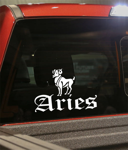 aries 3 zodiac decal - North 49 Decals