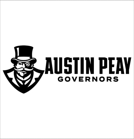 Austin peay governors decal, car decal sticker, college football
