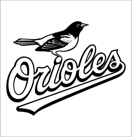 Baltimore Orioles decal, car decal sticker